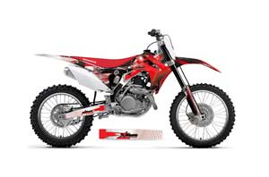 Honda CRF250 R Dirt Bike Graphic Kit - 2014-2017 Carbon X Red