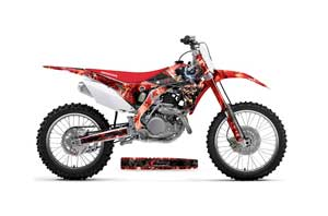 Honda CRF250 R Dirt Bike Graphic Kit - 2014-2017 Mad Hatter Red