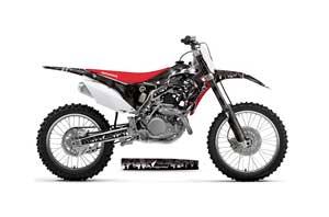 Honda CRF250 R Dirt Bike Graphic Kit - 2014-2017 Reaper Black