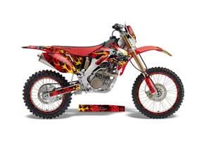 Honda CRF250 X Dirt Bike Graphic Kit - 2004-2017 Motorhead Red