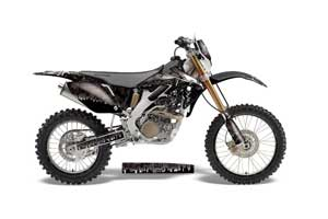 Honda CRF250 X Dirt Bike Graphic Kit - 2004-2017 Reaper Black