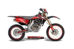 Honda CRF250 X Dirt Bike Graphic Kit - 2004-2017 Reaper Red