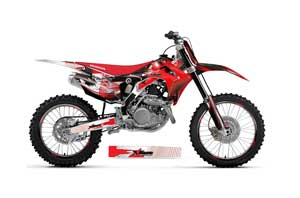 Honda CRF450 R Dirt Bike Graphic Kit - 2013-2016 Carbon X Red