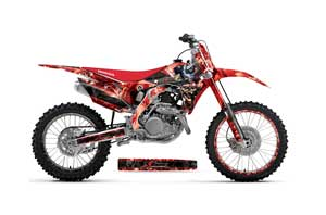Honda CRF450 R Dirt Bike Graphic Kit - 2013-2016 Mad Hatter Red