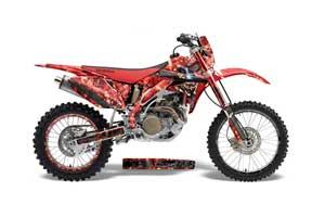 Honda CRF450 X Dirt Bike Graphic Kit - 2005-2016 Mad Hatter Red