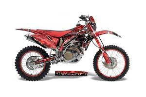 Honda CRF450 X Dirt Bike Graphic Kit - 2005-2016 Reaper Red