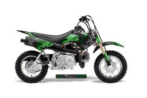 Honda CRF50 Dirt Bike Graphic Kit - 2004-2013 Camoplate Green