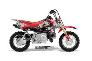Honda CRF50 Dirt Bike Graphic Kit - 2004-2013 Camoplate Red
