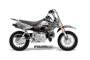 Honda CRF50 Dirt Bike Graphic Kit - 2004-2013 Camoplate Silver