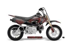 Honda CRF50 Dirt Bike Graphic Kit - 2004-2013 Widow Maker Red