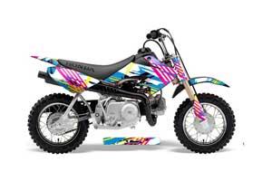 Honda CRF50 Dirt Bike Graphic Kit - 2004-2013 Flashback