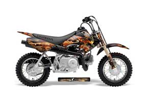 Honda CRF50 Dirt Bike Graphic Kit - 2004-2013 Firestorm Black