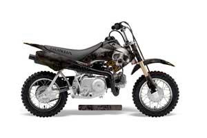 Honda CRF50 Dirt Bike Graphic Kit - 2004-2013 Bone Collector Black