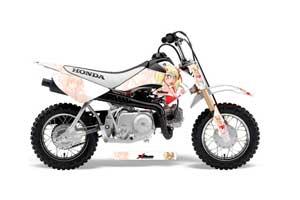 Honda CRF50 Dirt Bike Graphic Kit - 2004-2013 Mandy White