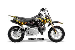 Honda CRF50 Dirt Bike Graphic Kit - 2004-2013 Motorhead Black