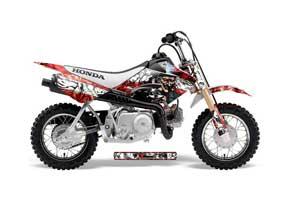 Honda CRF50 Dirt Bike Graphic Kit - 2004-2013 Mad Hatter Red