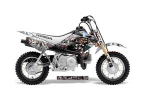 Honda CRF50 Dirt Bike Graphic Kit - 2004-2013 Mad Hatter Silver