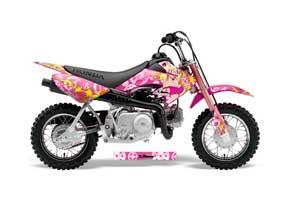 Honda CRF50 Dirt Bike Graphic Kit - 2004-2013 Motorhead Mandy Pink