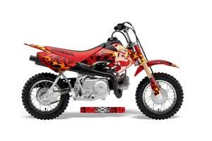 Honda CRF50 Dirt Bike Graphic Kit - 2004-2013 Motorhead Mandy Red