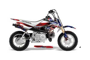 Honda CRF50 Dirt Bike Graphic Kit - 2004-2013 Sin and Stripes