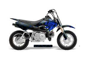 Honda CRF50 Dirt Bike Graphic Kit - 2004-2013 Silver Star - Reloaded Blue