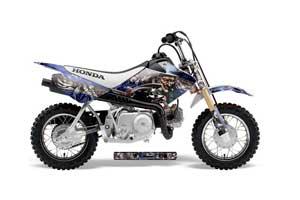 Honda CRF50 Dirt Bike Graphic Kit - 2004-2013 Mad Hatter Blue
