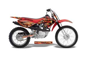 Honda CRF70 Dirt Bike Graphic Kit - 2004-2015 Firestorm Red