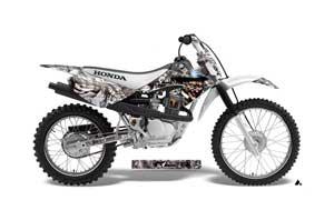 Honda CRF70 Dirt Bike Graphic Kit - 2004-2015 Mad Hatter White