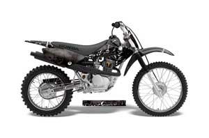 Honda CRF70 Dirt Bike Graphic Kit - 2004-2015 Reaper Black