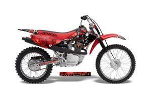 Honda CRF70 Dirt Bike Graphic Kit - 2004-2015 Reaper Red
