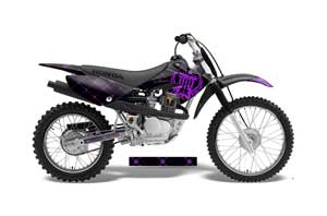 Yamaha YZ250 2 Stroke Dirt Bike Graphic Kit - 1996-2001 Number of the Beast Silver Star Reloaded