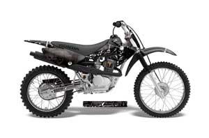 Honda CRF100 Dirt Bike Graphic Kit - 2004-2010 Reaper Black