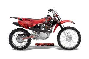 Honda CRF100 Dirt Bike Graphic Kit - 2004-2010 Reaper Red