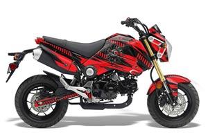 Honda Grom 125 Dirt Bike Graphic Kit - 2013-2016 Nuke Red