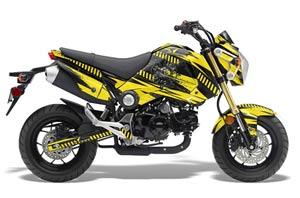 Honda Grom 125 Dirt Bike Graphic Kit - 2013-2016 Nuke Yellow