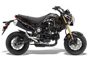 Honda Grom 125 Dirt Bike Graphic Kit - 2013-2016 Reaper Black