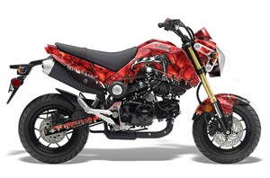 Honda Grom 125 Dirt Bike Graphic Kit - 2013-2016 Reaper Red