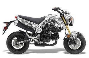 Honda Grom 125 Dirt Bike Graphic Kit - 2013-2016 Reaper White