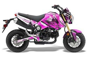 Honda Grom 125 Dirt Bike Graphic Kit - 2013-2016 Carbon X Pink