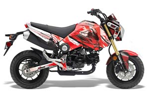 Honda Grom 125 Dirt Bike Graphic Kit - 2013-2016 Carbon X Red