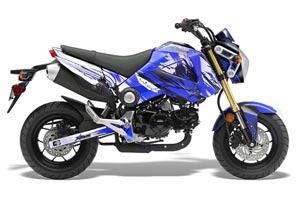 Honda Grom 125 Dirt Bike Graphic Kit - 2013-2016 Carbon X Blue