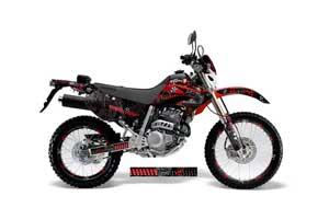Honda XR250 SM Dirt Bike Graphic Kit - 2003-2005 Toxicity Red
