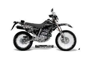 Honda XR250 SM Dirt Bike Graphic Kit - 2003-2005 Silver Star - Silver Star Black