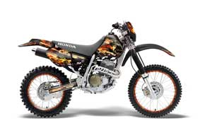 Honda XR400 Dirt Bike Graphic Kit - 1996-2004 Firestorm Black