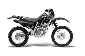 Honda XR400 Dirt Bike Graphic Kit - 1996-2004 Reaper Black