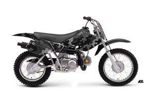 Honda XR70 Dirt Bike Graphic Kit - 2001-2003 Camoplate Black