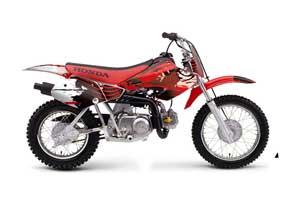 Honda XR50 Dirt Bike Graphic Kit - 2000-2003 Carbon X Red