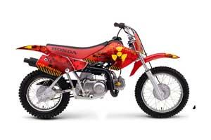 Honda XR70 Dirt Bike Graphic Kit - 2001-2003 Meltdown Red