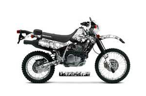 Honda XR650L Dirt Bike Graphic Kit - 1993-2018 Reaper White
