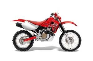 Honda XR650R Dirt Bike Graphic Kit - 2000-2010 Silver Star - Reloaded Red
